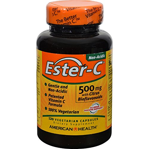 4 Pack of American Health Ester-C with Citrus Bioflavonoids - 500 mg - 120 Vegetarian Capsules - - - by American Health