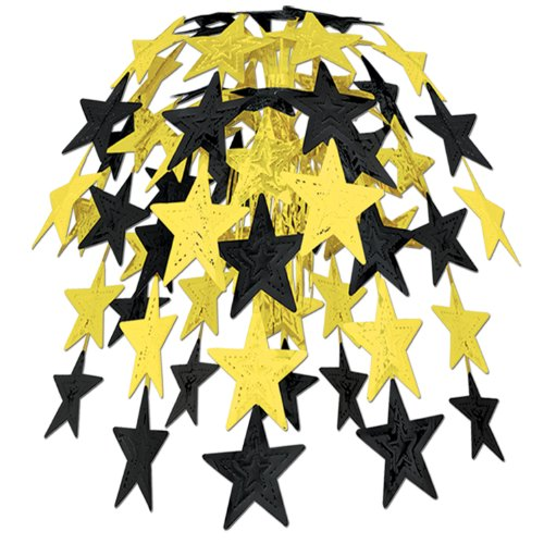 Star Cascade (black & gold) Party Accessory  (1 count) (1/Pkg)