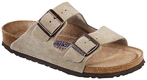 - Birkenstock Arizona Unisex Suede Sandal (38 EU (Medium), Taupe Suede Soft Footbed)