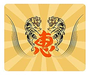 Traditional Tiger Design Rectangular Mouse Pad Fight by runtopwell