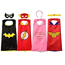 Juego de Capas de superhéroe de Amazon, Exclusivo, con Licencia Oficial de DC Comics