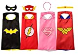 Rubie's Super Hero Cape Set Officially licensed DC Comics Assortment 4 Capes, 2 Masks, and 2 Headbands, One Size (Amazon Exclusive)