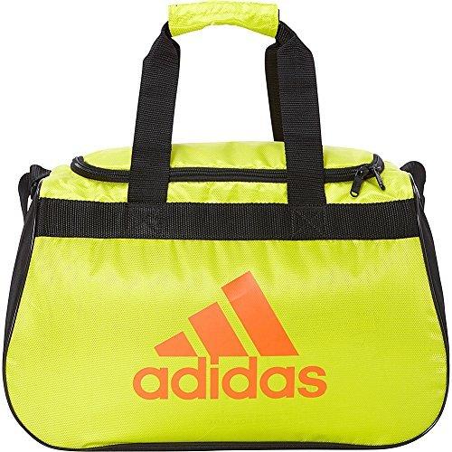 adidas Limited Edition Diablo Small Duffel Gym Bag in Bold Colors - (Shock Slime/Black/Col. Orange)