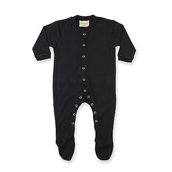 257657674e89 Larkwood Baby Unisex Plain Long Sleeved Sleepsuit (6) (Black ...