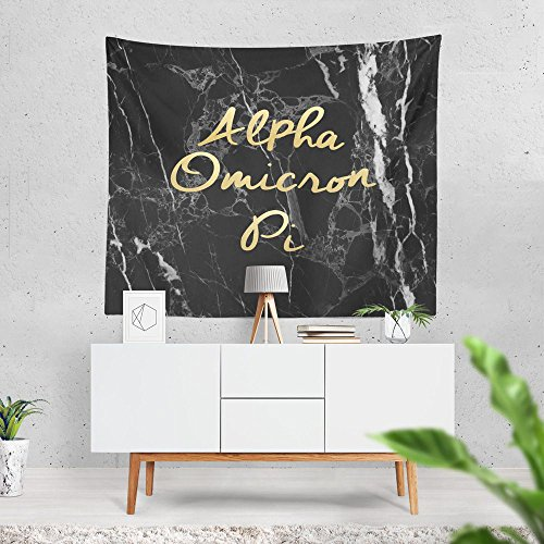 Alpha Omicron Pi Evil Marble Dorm Apartment Wall Tapestry 60 Inches x 80 Inches aoii