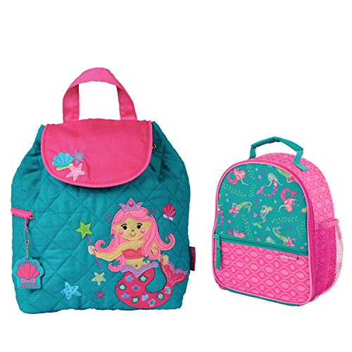 (Stephen Joseph Girls Quilted Mermaid Backpack and Lunch Box for Kids)