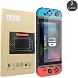 Screen Protector for Nintendo Switch Tempered Glass Screen Protector, Solomo 0.26mm 9H Hardness Tempered Glass Screen Protector for Nintendo Switch 2017 (2-Pack)