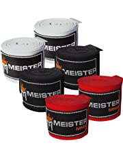 """Meister Adult 180"""" Hand Wraps for MMA & Boxing - 3 Pairs Pack"""