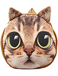 Sulida Cute Lifelike Cat Dog Face Bag Zipper Backpack for Children
