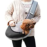 AIMENG Hands-Free Pets Sling Carrier, Lightweight Portable Outdoor Travel Shoulder Bag for Small Dogs Cats