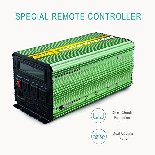 Edeoca 2000W Power Inverter DC 24V to 110V AC Power Converter - Green by EDECOA (Image #1)'