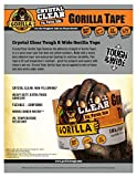 "Gorilla Crystal Clear Duct Tape Tough & Wide, 2.88"" x 15 yd (Pack of 1),101277"