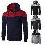 Jushye Men's Hoodies, Boys Autumn Hoody Man Winter Winter Slim Hoodie Patchwork Warm Hooded Sweatshirt Coat Jacket Outwear Sweater