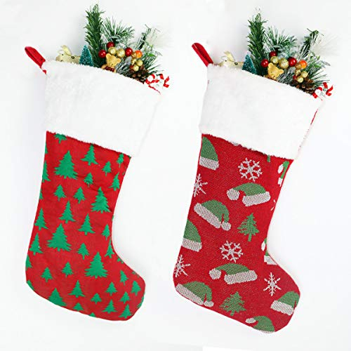 SHENGLI Christmas Stockings Holders, 2Pcs Set Decoration,for Christmas Hats, Christmas Trees, Snowflake Cute Ornament Hanging Christmas Tree Decorations
