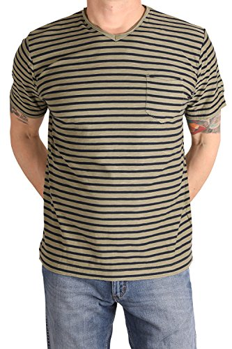 Pioneer 5565-2777-647 Herren T-Shirt Ringel Dry Grass