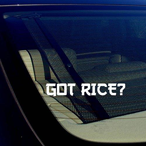 OwnTheAvenue Got Rice? Funny JDM Drifting Racing Street Bike Vinyl Decal Sticker 7.5