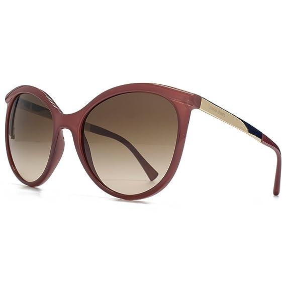 f98689e0f8f Giorgio Armani Peaked Round Sunglasses in Opal Grapes AR8070 544613 58 58  Brown Gradient  Amazon.co.uk  Clothing