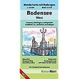 Bodensee West: Wanderkarte mit Radwegen, Blatt 51-529, 1 : 25 000, Konstanz, Überlingen, Ludwigshafen, Radolfzell a.B., Reichenau, Kreuzlingen (NaturNavi Wanderkarte mit Radwegen 1:25 000)