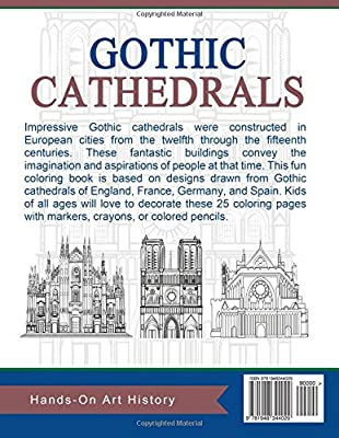 Gothic Cathedrals Famous Churches Of Europe Coloring Pages