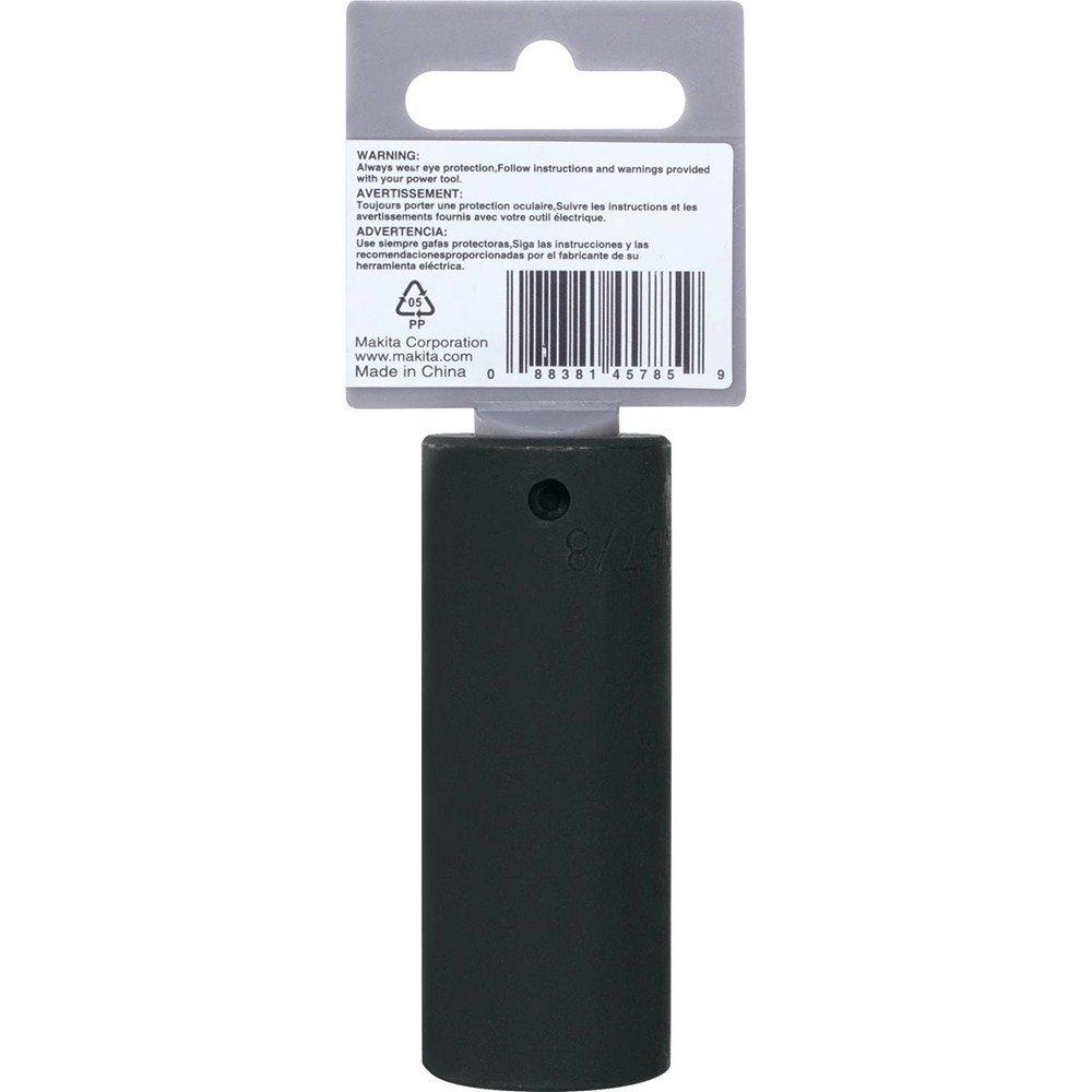 Makita A-96316 7//8 Deep Well Impact Socket with 1//2 Drive