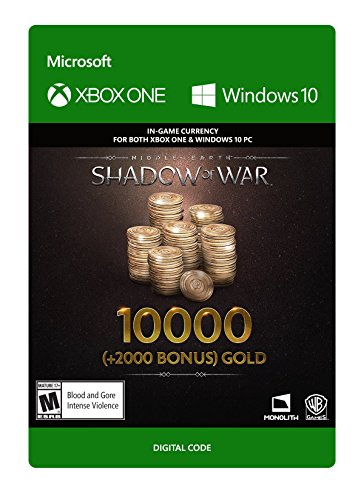 Middle-Earth: Shadow Of War – 10000 (+2000 Bonus) Gold - Xbox One [Digital Code] by Warner Brothers