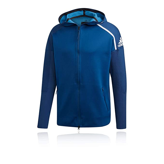 adidas Z.N.E Primeknit Hoodie SS19 Blue: Amazon.co.uk