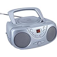 Sylvania Portable CD Player with AM/FM Radio (Silver)