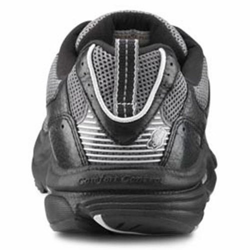Dr. Comfort Endurance Plus Therapeutischer Diabetiker Extra Depth Shoe Leder-und-Mesh-Spitze Schwarz