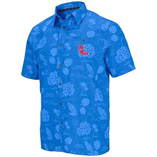 Colosseum Mens Ole Miss Rebels Honolulu Camp Shirt - L