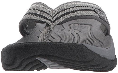 KEEN Womens Kona Flip-W Flat Sandal, Steel Grey/Black, 10.5 M US