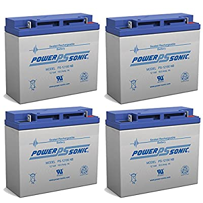 Powersonic 12V 18AH SLA Battery Replaces Energizer 84020 Jump Starter - 4 Pack