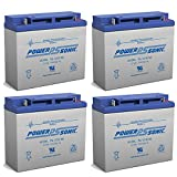 Powersonic 12V 18AH Battery Replaces Ski-Doo 1200 Renegade, GSX 09-12 - 4 Pack