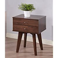 Mid-Century, Modern Jones Wenge 2-drawer Nightstand
