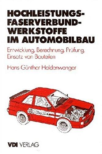 Hochleistungs Faserverbundwerkstoffe Im Automobilbau  VDI Buch