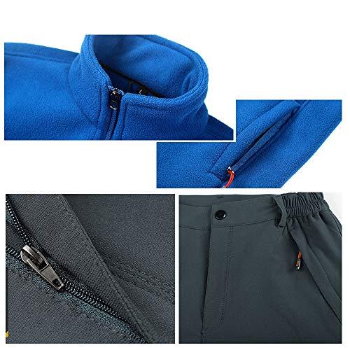 M M M Uomo Size Color Color Color Color Guyuan Uomo Blue Vento da Tre Gray Black all'Acqua in blue Pezzi Giacca in Pile Resistente Giacca e Outdoor da al qqRwT1t