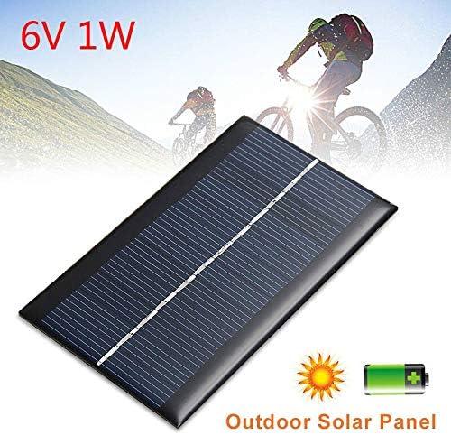 Z.L.FFLZ Mini Solar-Panel Akkuladesolarzelle 6V 1W Power Solar-Panel Standard-Epoxy Polykristalline Mini-Modul-System