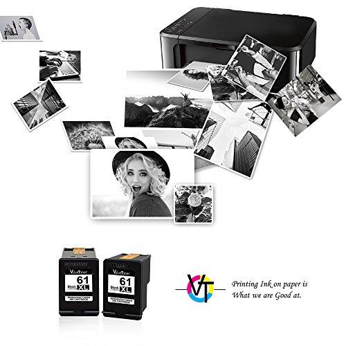 Valuetoner Remanufactured Ink Cartridge Replacement for HP 61XL 61 XL High Yield for HP Envy 4500 5530 5534, Deskjet 2540 1000 1010, Officejet 4630 2620 4635 Printer (2 Black) by Valuetoner (Image #1)