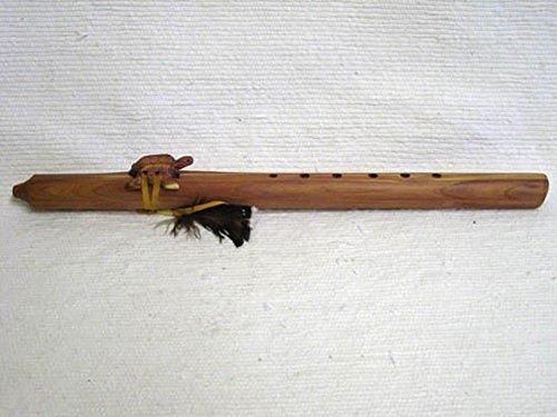 Kachina House Native American Navajo Made Cedar Flutes - F Sharp W/Wolf Totem Wolf Kachina