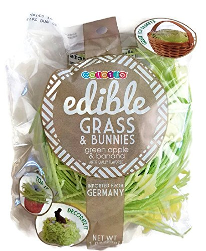 Grass Edible (Edible Easter Grass & Bunnies 1 oz (Green Apple))