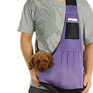 kiwitatá Small Dog Cat Carrier Sling Bag Adjustable Safe Hands-Free Breathable Outdoor Pet Carrier Single Shoulder Bag for Dog Kittens Carrier Travel Backpack