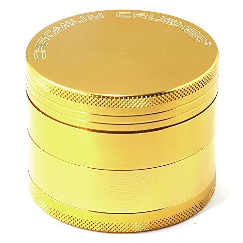 Inch 4 Piece Tobacco Spice Herb Grinder - Gold (4 Piece Herb)