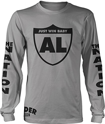 Millionaire Mentality Raider Nation Just Win Baby Long Sleeve Black T-Shirt (X-Large) AL (Editions Long Sleeve Shirt)