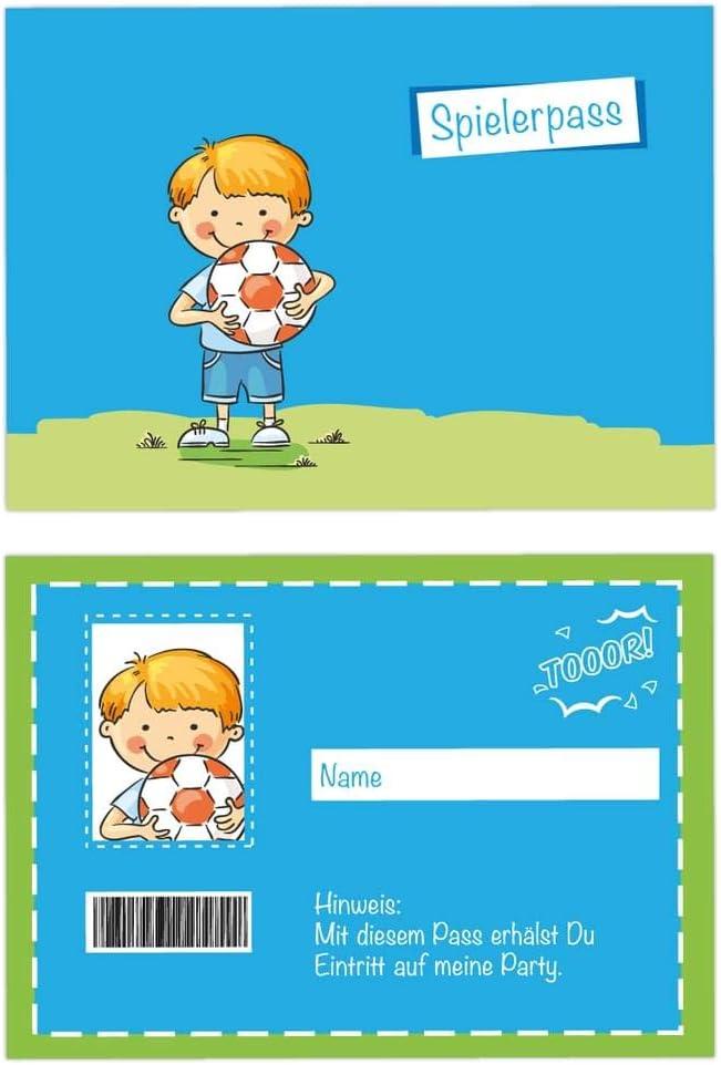 Superhelden inkl 24-teiliges Einladungskarten Set Kindergeburtstag Geburtstagsp/ässe und farbige Umschl/äge