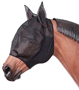 Tough 1 Lycra Fly Mask with Ears, Black, Small/Medium
