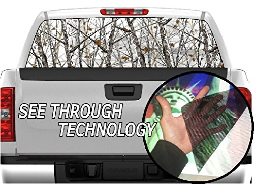 P333 CAMO Camouflage Tint Rear Window Decal Wrap Graphic Perforated See Through Universal Size 65