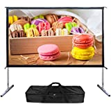 Mileagea Outdoor Screen 100-inch 16:9 4K Ultra HD Ready Portable Foldable Movie Theater Projector Screens