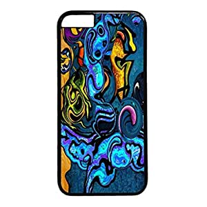 Abstract Design Black PC Case for Iphone 6 Ghost