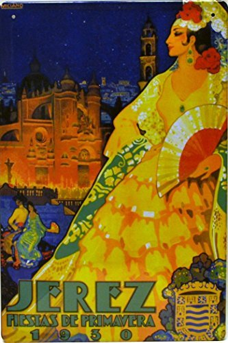 Amazon.com: Tin poster sign, with retro vintage design from Catalunya/Spain. Tin sign. 11, 81