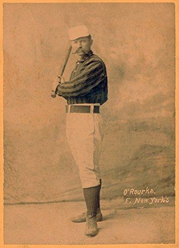 New York Giants - Jim O'Rourke - Baseball Card 22651 (16x24 SIGNED Print Master Art Print - Wall Decor Poster)