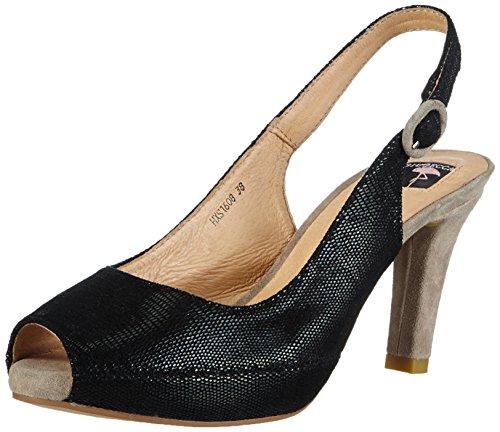 Giudecca Jycx15sb6-1, Scarpe Col Tacco Donna Nero (Black (Nero))